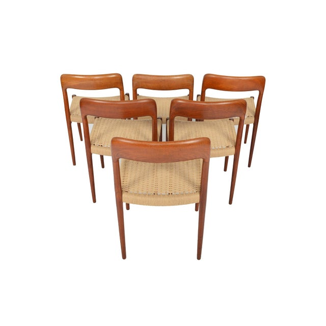 Møller Model 75 Teak Dining Chairs - Set of 6 - Image 4 of 10