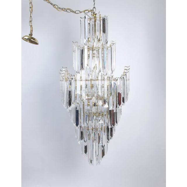 7-Tier Brass & Lucite Chandelier - Image 11 of 11