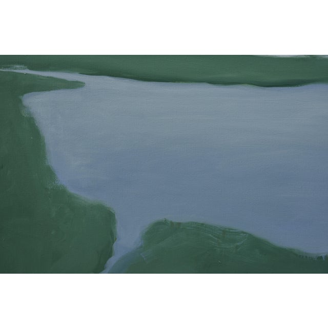 Abstract Salt Water Inlet Landscape Painting For Sale - Image 3 of 9