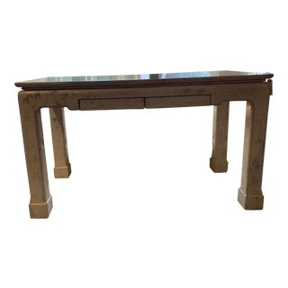 Vintage Chinoiserie Faux Coral Finish Writing Desk For Sale