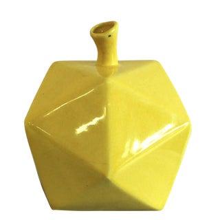 Geometric Yellow Gourd Vase