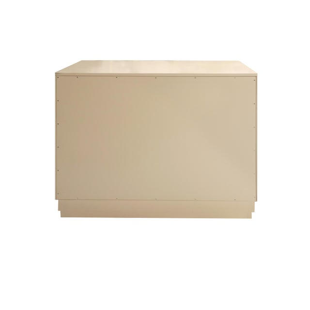 Kindel Furniture Minimalistic Maple Filing Cabinet From Garden Street in Putty and Coral For Sale - Image 4 of 6