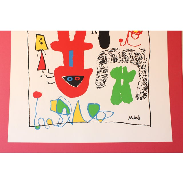 """""""Acrobats in the Night Garden"""" Print by Joan Miro For Sale - Image 4 of 8"""