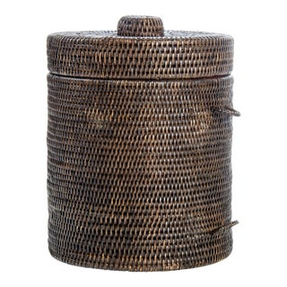 Artifacts Rattan Ice Bucket & Tongs