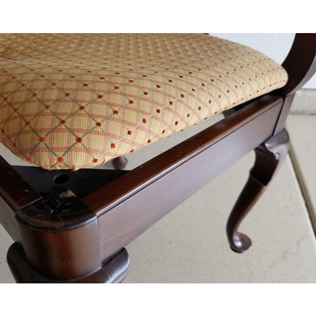 Brown Vintage Ethan Allen Georgian Cherry Corner Chair For Sale - Image 8 of 11