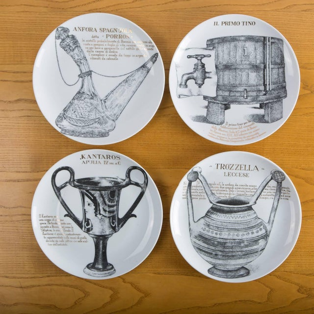 Set of 12 Fornasetti Plates for Martini & Rossi For Sale - Image 5 of 8