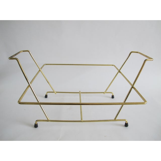 Mid-Century Brass Vinyl Holder - Image 3 of 3