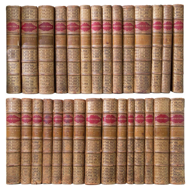 19th Century English Tree Marbled Calf Leather Bound Books - Set of 29 For Sale - Image 9 of 9