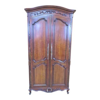 Century Furniture French Style Cherrywood Armoire For Sale