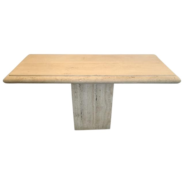 Italian Travertine Console Table - Image 1 of 3