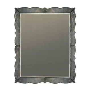 Monumental Art Deco Scalloped Edge Mirror, circa 1930s
