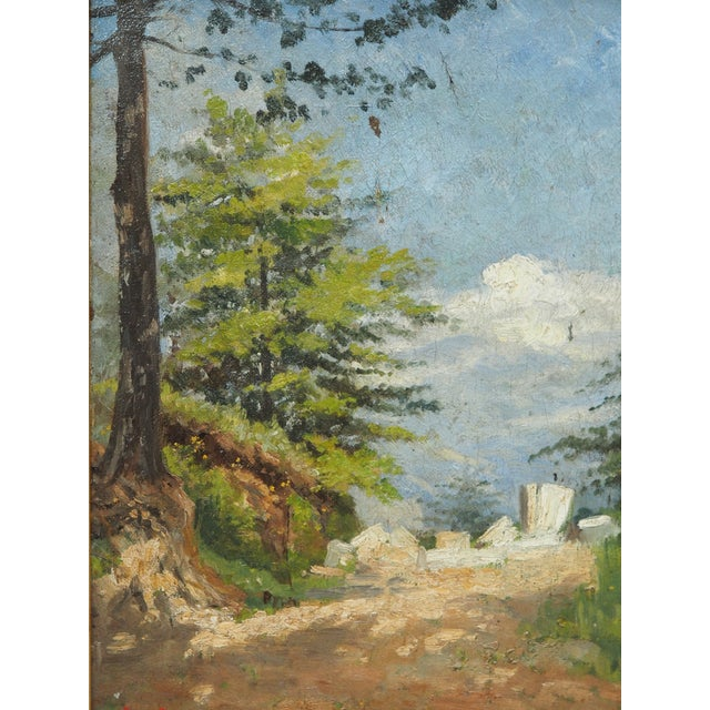 Traditional Oil on Canvas Landscape in a period frame For Sale - Image 3 of 6