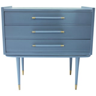 Lacquered Grey Commode For Sale
