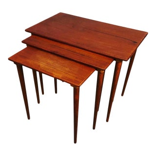 It's Century Danish Teak Nesting Tables 1960s Circa For Sale