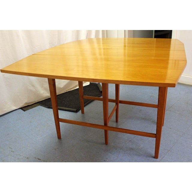 1950s Mid-Century Modern Paul McCobb Planner Group Drop Leaf Dining Table For Sale - Image 5 of 12