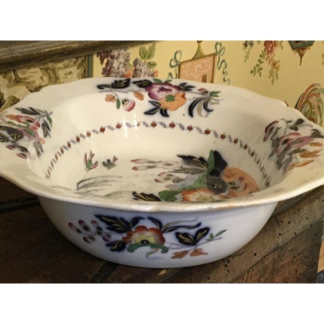 1820s Antique English Masons Ironstone Deep Serving Bowl For Sale - Image 9 of 12