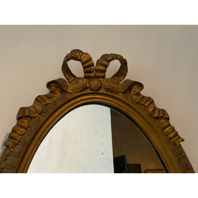 French Louis XVI Carved Giltwood Mirror For Sale - Image 3 of 10