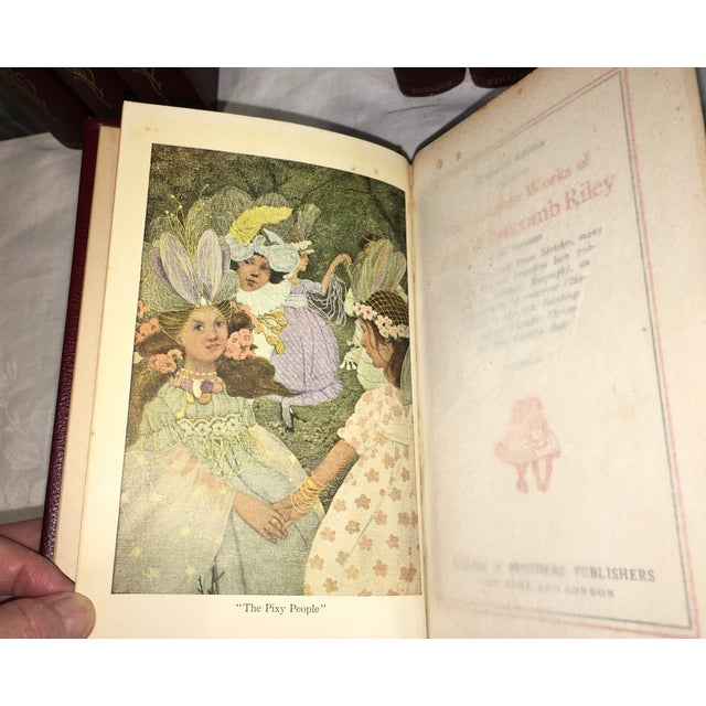 Antique James Whitcomb Riley Books - Set of 10 - Image 5 of 9