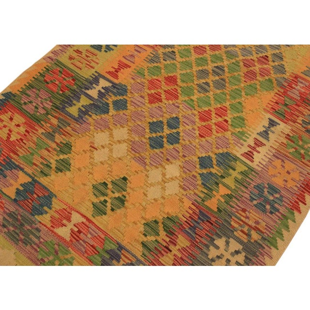 Kilim Arya Romilly Ivory/Blue Wool Rug -3'7 X 7'2 For Sale In New York - Image 6 of 8