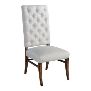 Anna Side Chair Dining Oatmeal Rustic Pecan Solid For Sale