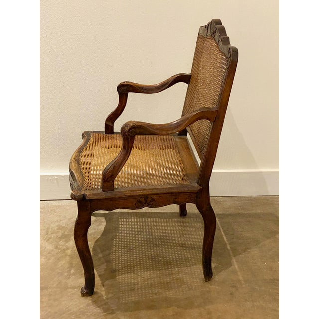 "French Cane Arm Chair Circa 1750 26"" Wide x 19.75"" Deep x 37"" High Seat is 17"" High"
