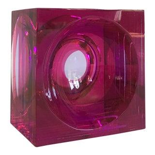 Vintage Lucite Cube Sculpture