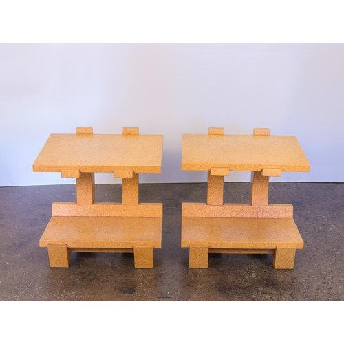 Modern Kevin Walz Cork Side Tables - a pair For Sale - Image 3 of 11