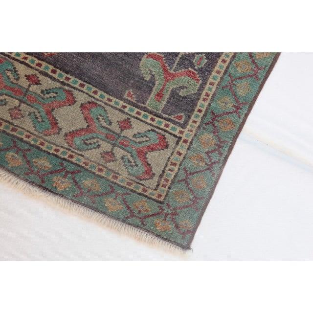 1960s Vintage Turkish Handmade Rug - 1′8″ × 3′1″ For Sale - Image 10 of 11