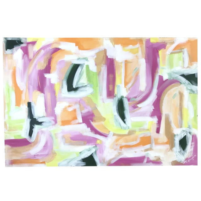 """Christina Longoria """"Lenette"""" Abstract Painting For Sale"""