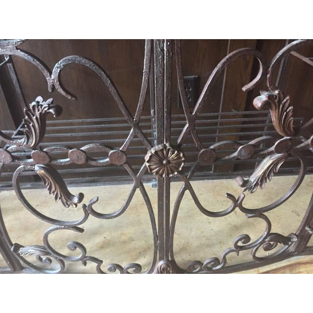 Auburn Henredon Registry Collection Terra Cotta & Wrought Iron Console For Sale - Image 8 of 12