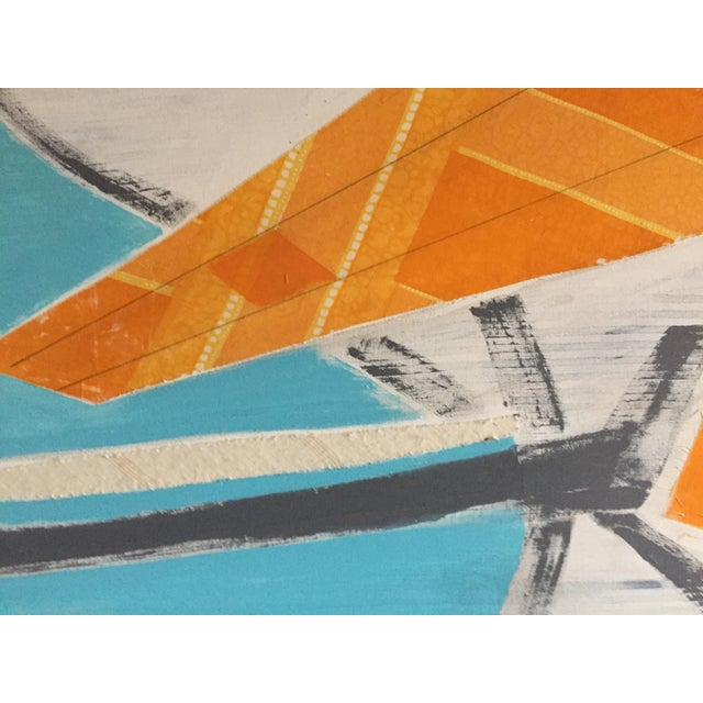 Large Original Mixed Media Modern Art on Canvas For Sale - Image 4 of 8