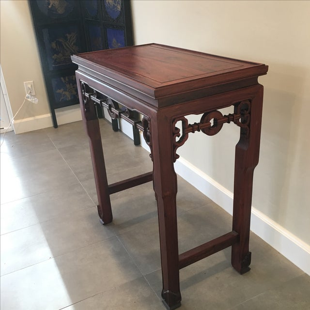 Carved Chinese Rosewood Alter Table For Sale - Image 9 of 11