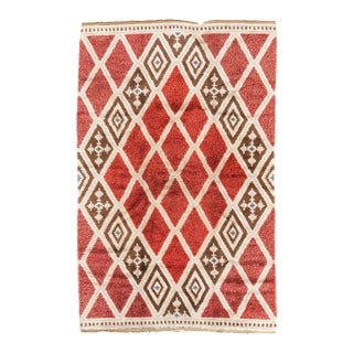 1950s Vintage Swedish Rya Rug- 6′1″ × 10′ For Sale