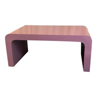 1980s Hollywood Regency Mod Waterfall Purple Coffee Table For Sale