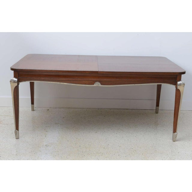 Art Deco Late Art Deco Palisander Extension Dining Table by Jean Pascaud For Sale - Image 3 of 8