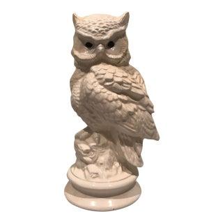 Ceramic Whiteware Owl For Sale