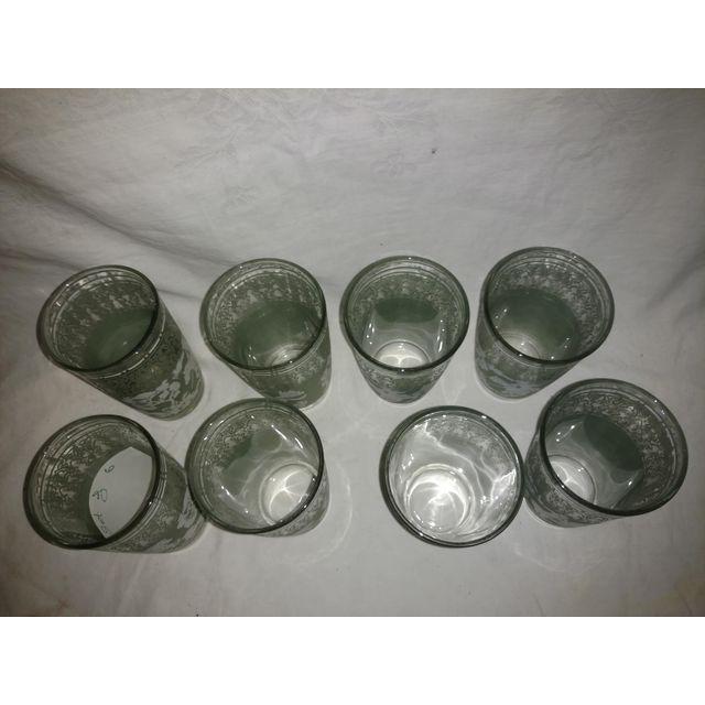 Mid-Century Modern Vintage Arabian Knights Hazel Atlas Green Bar Glasses - Set of 8 For Sale - Image 3 of 6
