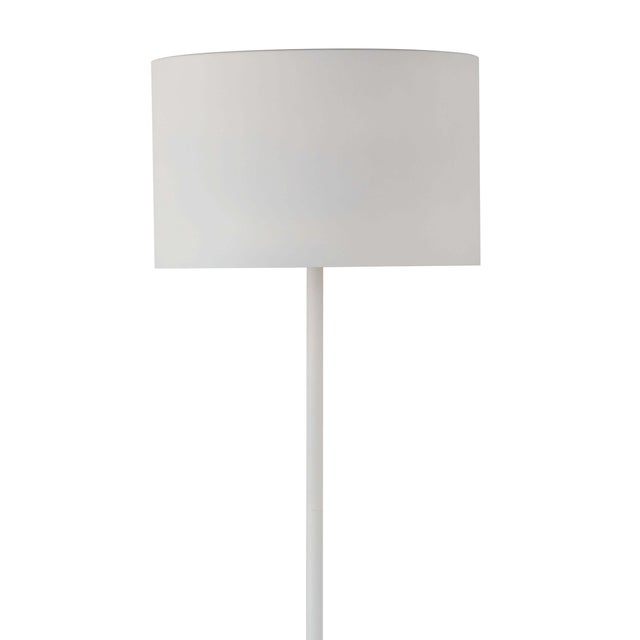 Traditional Trilogy Floor Lamp in White For Sale - Image 3 of 6