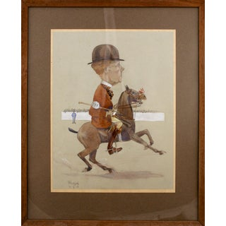 Dapper Equestrian Watercolor For Sale