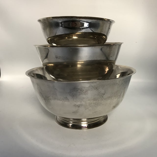 Silver Plate Paul Revere Bowls - Set of 3 - Image 2 of 10