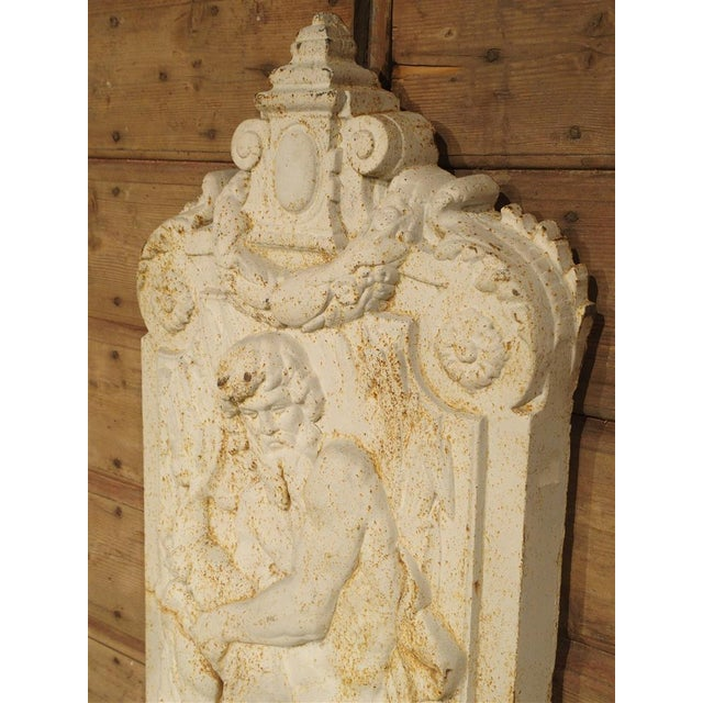 Antique Cast Iron Neptune Wall Fountain from France For Sale In Dallas - Image 6 of 10
