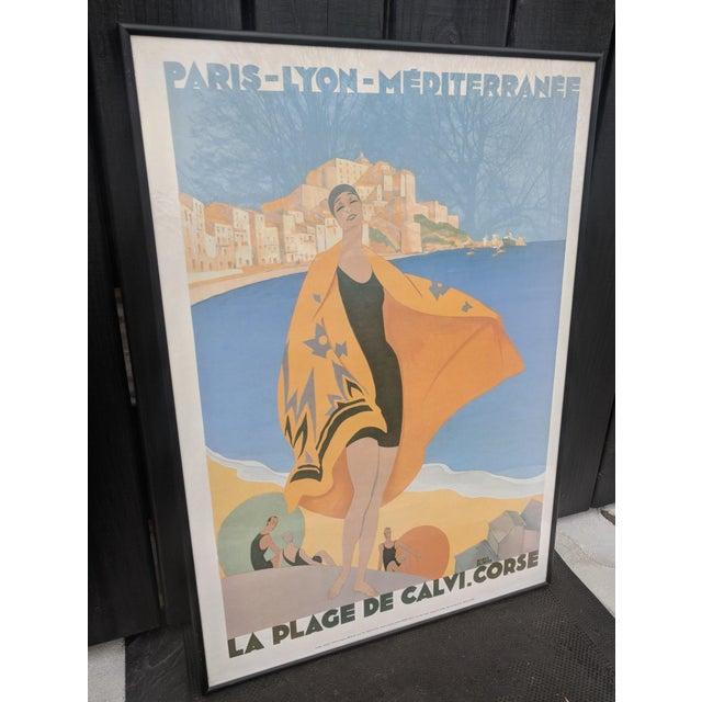Art Deco Vintage French Advertisement Illustration by Roger Broders Framed For Sale - Image 3 of 9