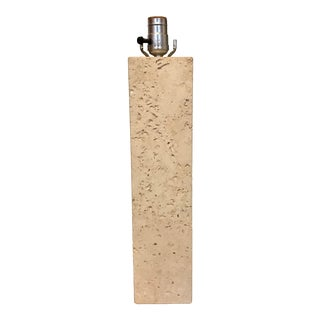 Mid Century Travertine Lamp For Sale