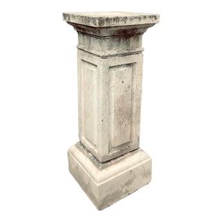 1920s Vintage Classic Concrete Pedestal For Sale