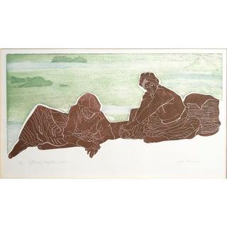 """Scylla & Charybdis, Prologue"" Lithograph by Jacklyn Friedman"