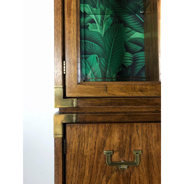 Campaign 1960s Vintage Mid-Century Modern China Cabinet For Sale - Image 3 of 6