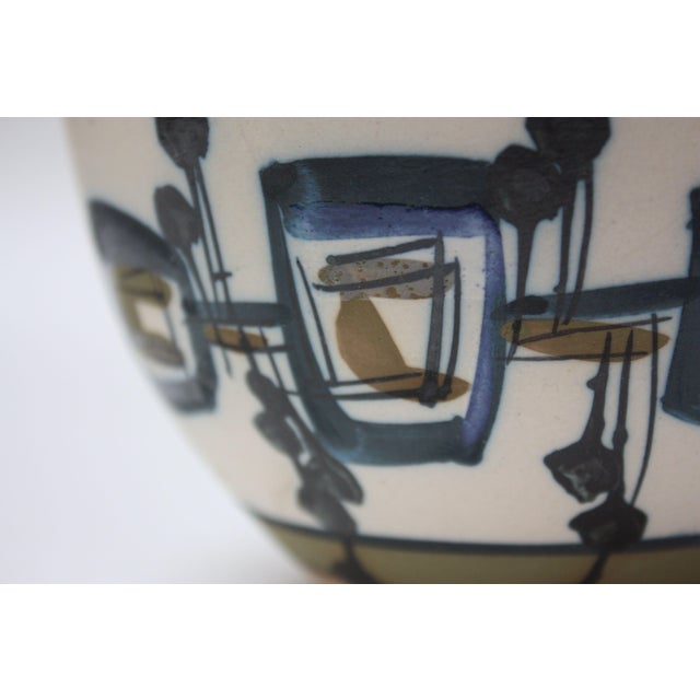 White Vintage Israeli Hand-Painted Ceramic Bowl by Azaz (עזז) for Harsa Be'er Sheva For Sale - Image 8 of 10