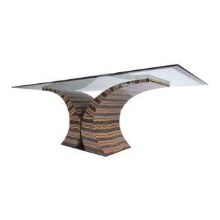 Impressive Decorator Style Console Table For Sale