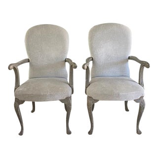 Antique Belgium Armchairs - a Pair For Sale