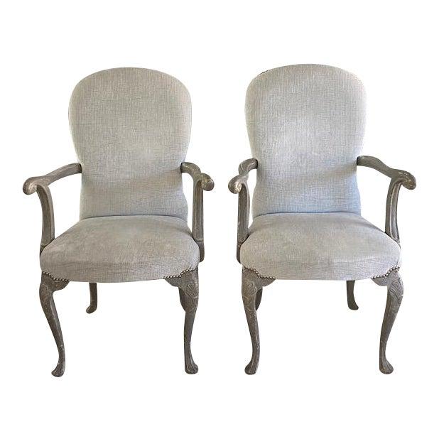 Antique Belgium Armchairs - a Pair For Sale